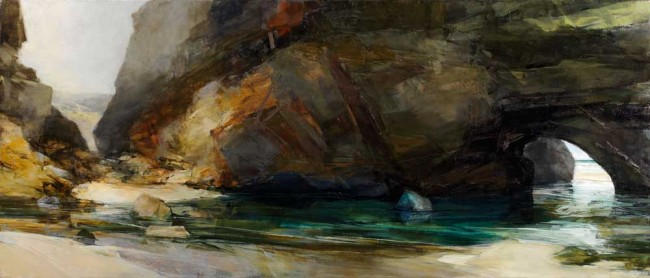 Spring Tide I    oil on linen    60 x 140 cm    2007